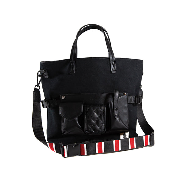 LumberUnion black tote - executive tote front