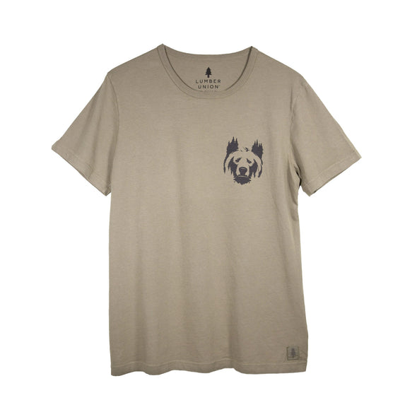 LumberUnion short sleeve graphic tee - bear it all flat lay