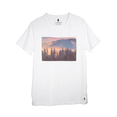 LumberUnion short sleeve graphic tee - scene it all flat lay