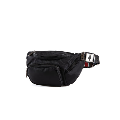 LumberUnion black fanny pack - outdoor festival front