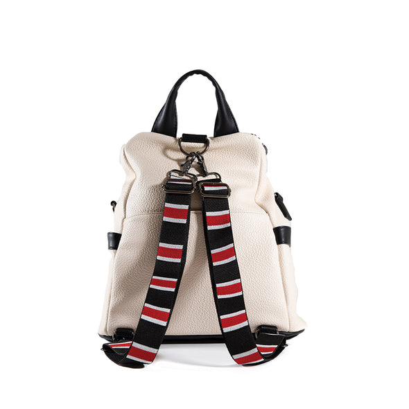LumberUnion white backpack - skyline convertible bag back