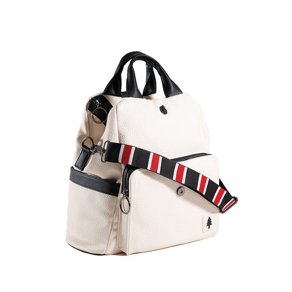 LumberUnion white backpack - skyline convertible bag shoulder bag front