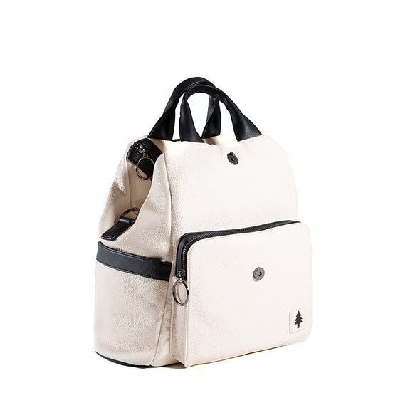 LumberUnion white backpack - skyline convertible bag top handle bag front