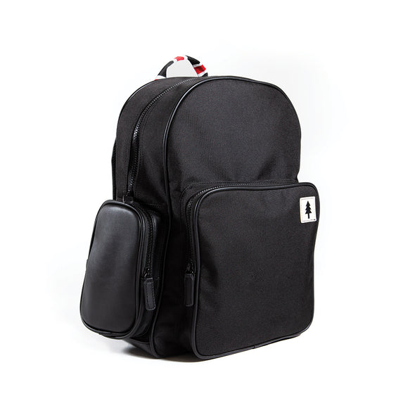 LumberUnion black backpack - urban explorer front left