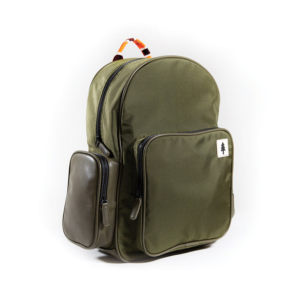LumberUnion green backpack - urban explorer front rleft