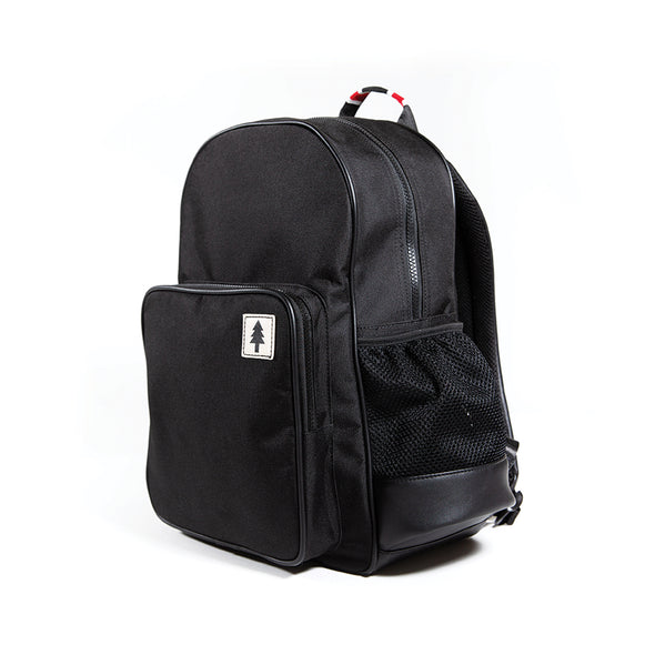LumberUnion black backpack - urban explorer front right