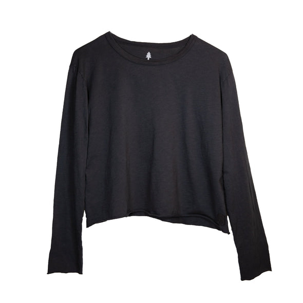 LumberUnion black long sleeve tee- decidu-licous flat lay