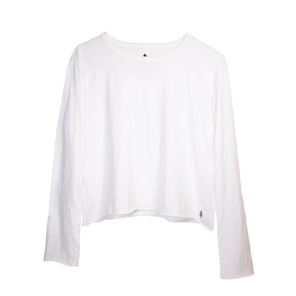 LumberUnion white long sleeve tee- decidu-licous flat lay