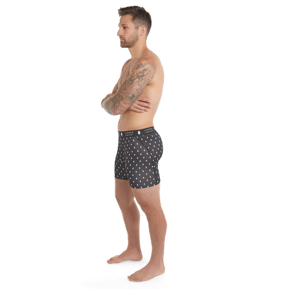 Men's Tagless Soft Stretch Spandex Signature Pattern Boxer Briefs