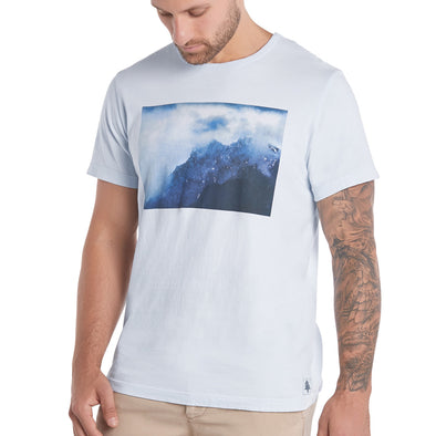 LumberUnion Men's Short-Sleeve 100% Cotton Premium Graphic Tee - Daybreak