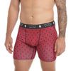 LumberUnion Men's Tagless Soft Stretch Spandex Graphic Boxer Briefs - Red Signature Print