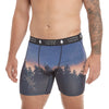 LumberUnion Men's Tagless Soft Stretch Spandex Graphic Boxer Briefs - Dusk