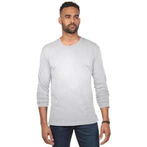 LumberUnion Men's Long-Sleeve 100% Cotton Premium Tee
