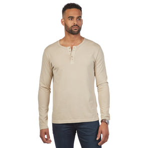 Men's Long-Sleeve Cotton Henley