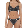 LumberUnion Women's Soft Spandex Triangle Adjustable Graphic Bralette - Black Signature Print