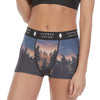 Women's Soft Spandex High Waisted Boyshort Scenic Underwear