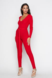 Baby Ribbed Knit Jumpsuit