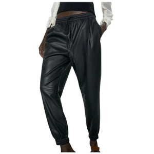 Leather Joggers (also in black & cream)