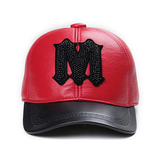 "Leather ""M"" Cap"