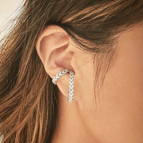 Braided Heart Ear Cuff