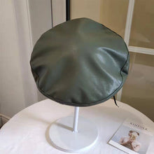 Vegan Leather Beret