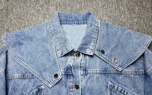 Denim Bib Collar Jacket