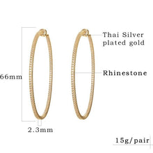 "Large 2.6"" Hoops (also in Gold)"