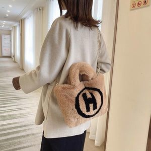 "Plush ""H"" Tote (more colors)"