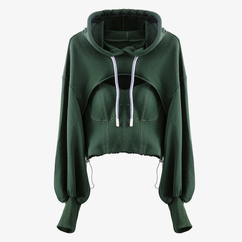 Hollow & Hooded Sweatshirt