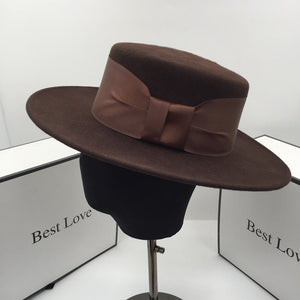 Chocolate Flat Top Fedora