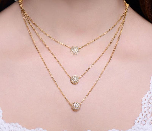 3 Layer Dot Necklace