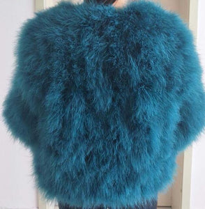 Ostrich Feather Coat