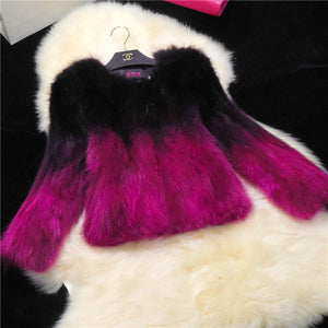Ombre Fur Coat w/Pockets (more colors available)
