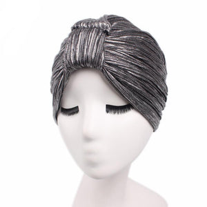 Metallic Cinched Turban