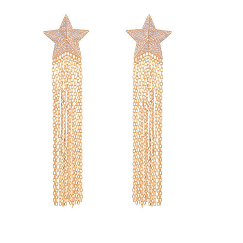 Long Cubic Z Star Tassels
