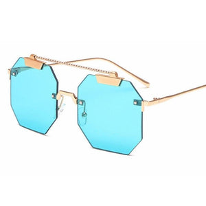 Rimless Octagon Sunglasses