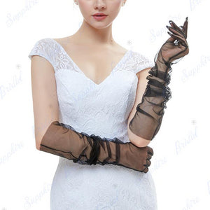Sheer Long Gloves