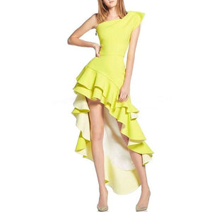 Gale Asymmetrical Ruffle Dress