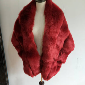 Faux Fox Shawl Wrap (more colors)