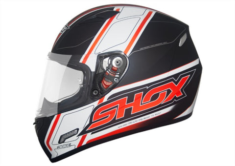 Capacete Shox Mugello Duke Black/Orange Ready to Race - Promoção