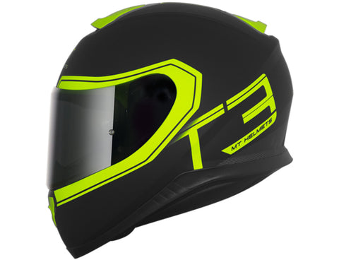 Capacete MT Thunder3 Beta - Matt Black Yellow