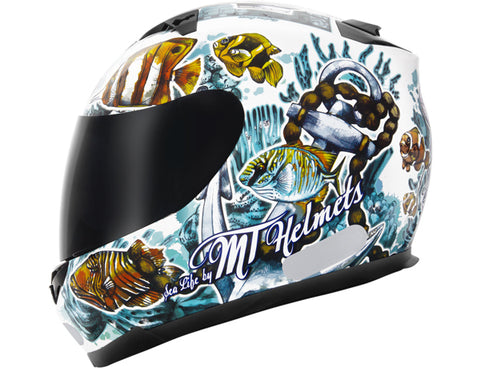 Capacete MT Blade Sea Life - White