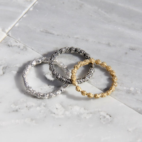 Brûlée Collection Mini Band Ring