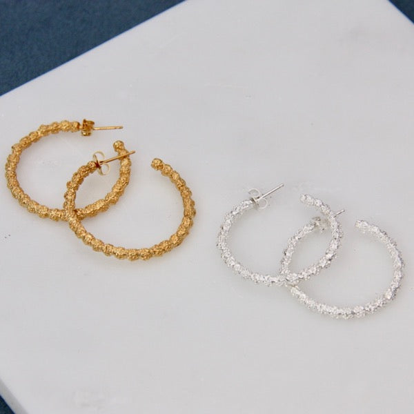 Brûlée Collection Mini Hoop Earrings