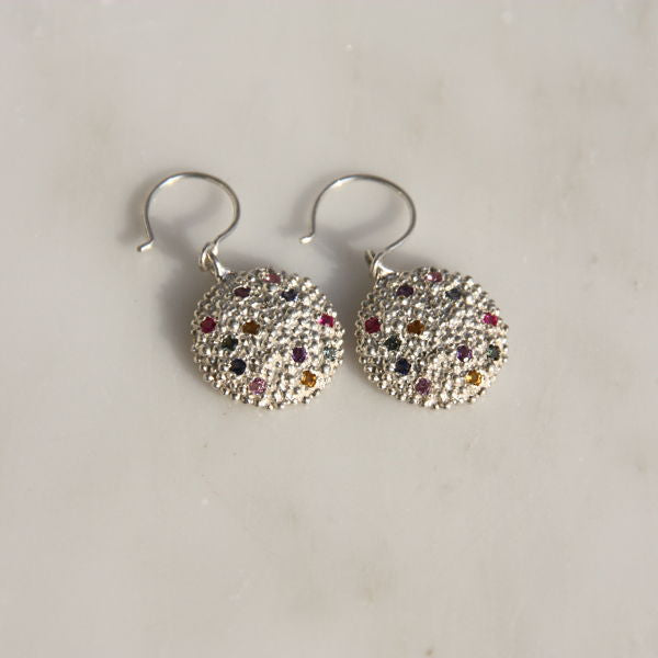 ROXIT Collection Darius Flat Shield Earrings with Wire