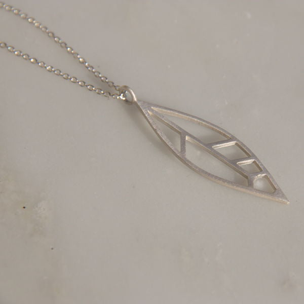 TLB Collection Skeleton Feather Necklace