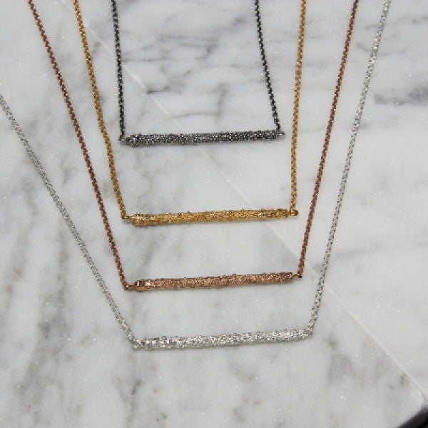Darius Collection Skinny Bar Necklace