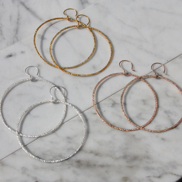 Trashed Collection Boss Hoop Earrings on Wire