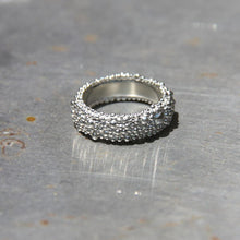 Textured Silver Edgy Boho Hippie Chic Band Ring