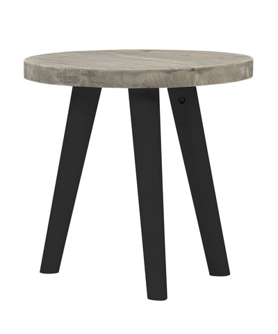 "Elsa 18"" Round Solid Wood Side Table"